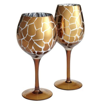 Love this pattern! The inside is a mirror!  Metallic Leopard Drinkware
