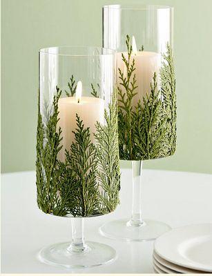 la decoración de mis mesas: Idea para la mesa de Navidad: Candelabros hechos con ramas