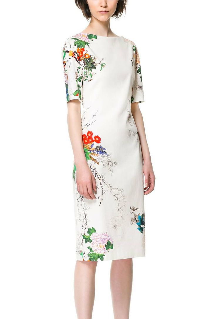White Short Sleeve Floral Butterfly Print Dress Certo bisogna essere dei rettangoli per portarlo.. però è tanto bello!
