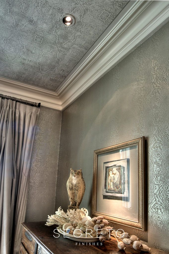 From Eclectic To Soft Contemporary Let S Name Some Paints Segreto Finishes Faux Walls Metallic Wallpaper Wall Treatments