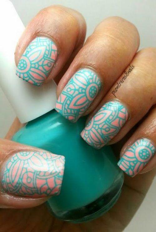 Sellos para uñas decoradas cortas y largas con diseños increibles