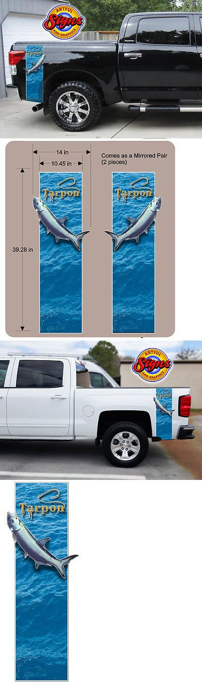 Decals Stickers and Patches 179988: Tarpon Fish Pickup Truck Bed Band - Sport Fishing Custom Decal Wrap Sticker Kit BUY IT NOW ONLY: $65.75