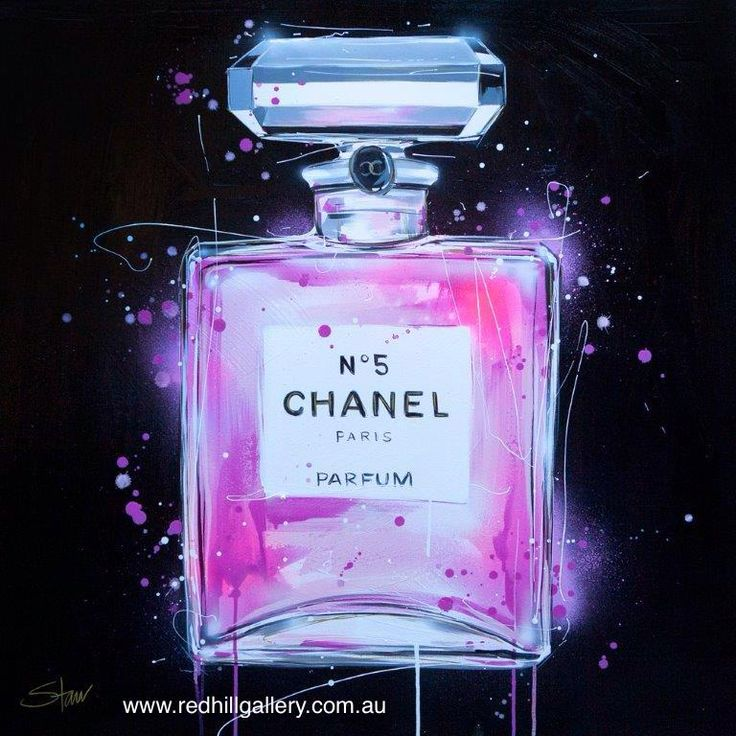 Starr 'Chanel Bottle on Black' 90x90cm. 61 Musgrave Road, Red Hill Brisbane, QLD, Australia. art@redhillgallery.com.au
