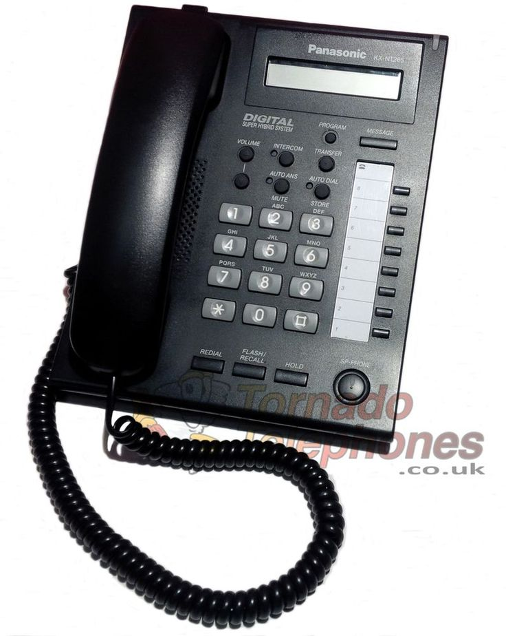Panasonic KX-NT265 IP Phone In Black  Free Delivery 12 Months Warranty