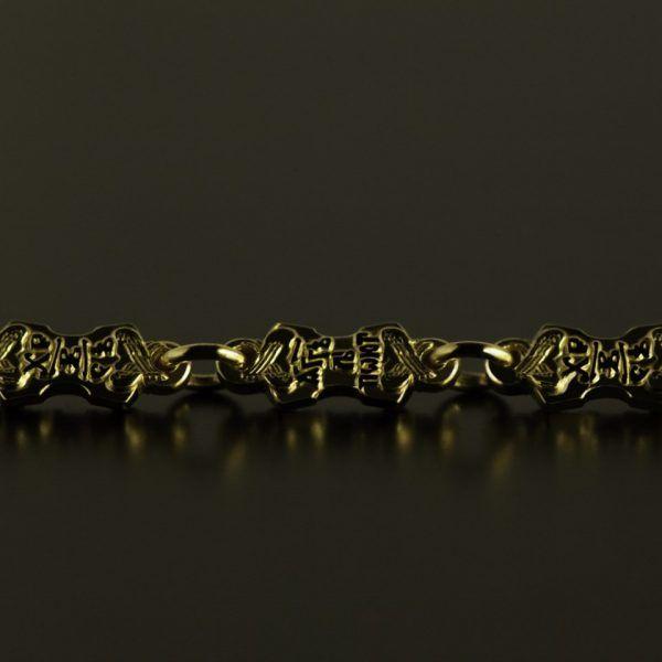 Цепь «Ангелы поют…»золоченая,  серебро | Кустодия-творческая мастерская. Ювелирные украшения ручной работы./ Цепи и браслеты золотые и серебряные/