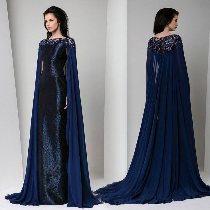 Brides and gals, I recently shared a bridal cape concept with you, which you can see here for reference. You ALL LOVED IT! So I thought I would share another concept with you that is geared for the mothers of the bride and groom. (Not to say that you couldn't wear this.) This Tony Ward Couture dress is midnight blue with a delicate patterned sheath style underdress while the cape portion of silk georgette looks like something from Game of Thrones in its sultry hand and simplicity. Moms need…