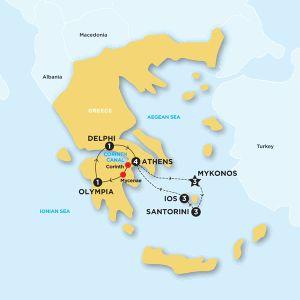 Contiki Tour: Spotlight on Greece plus 11 day Greek Island Hopping