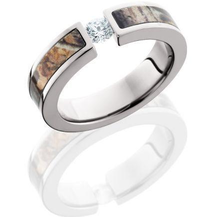 6 5mm Titanium CZ stone inlaid Realtree Max-4 Camo Engagement Ring Camo wedding band