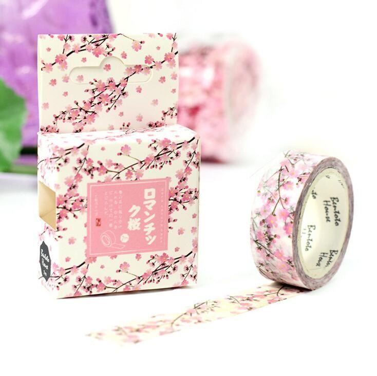 JA319 Romantic Season of Cherry Decorative Washi Tape DIY Scrapbooking Masking…