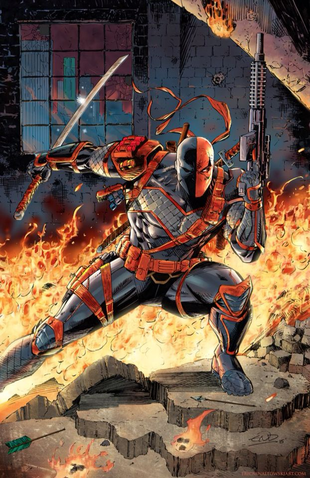 Burn deathstroke