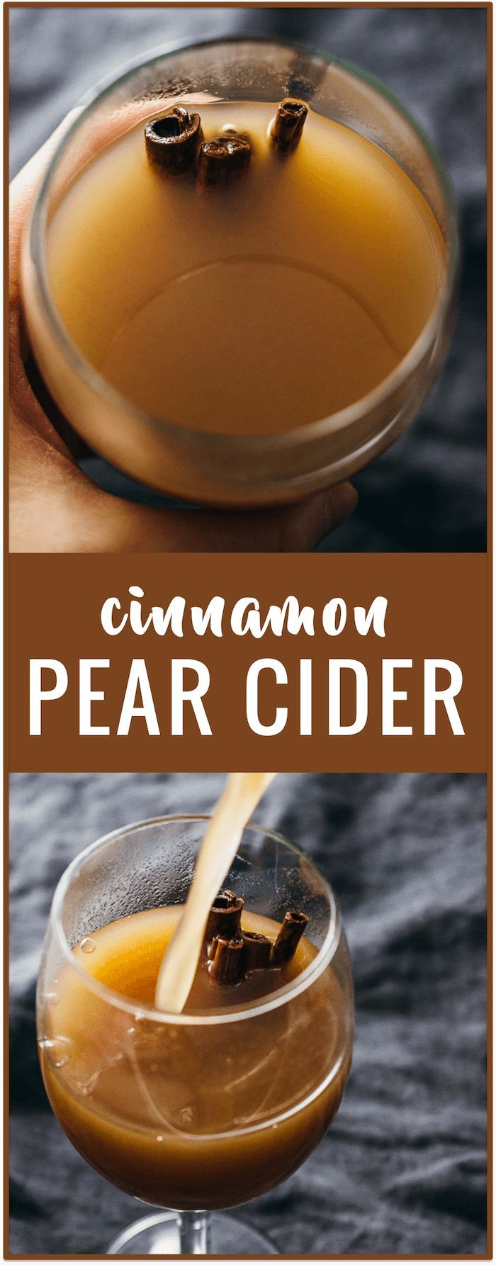 Cinnamon pear cider recipe - This healthy pear cider recipe is made using real fruits and a handful of spices. It can be enjoyed hot or cold, and is the perfect holiday beverage.