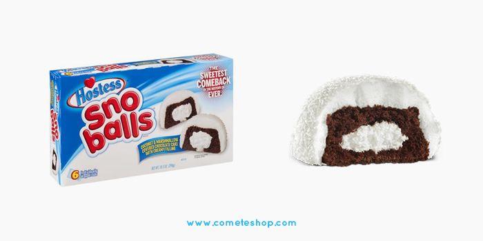 gâteaux américains a la crème Sno Balls Hostess à shopper chez www.cometeshop.com Concept store Us et épicerie américaine