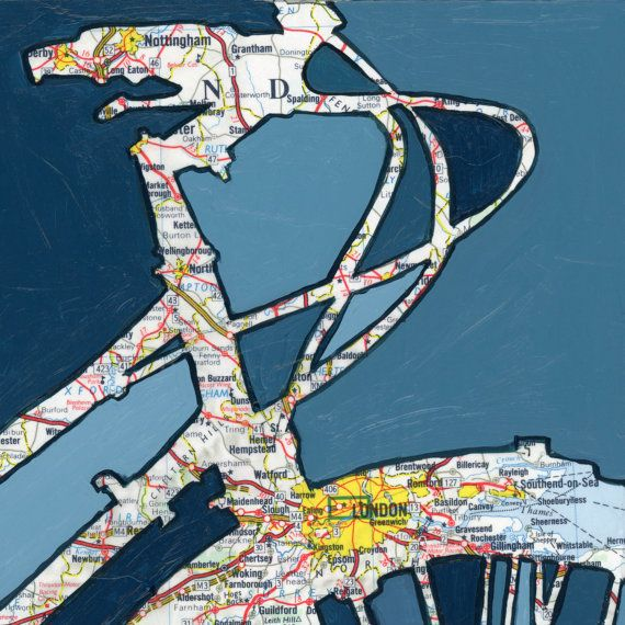Bike London print 13x13 featuring London by OffTheMapArt on Etsy