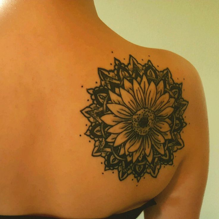 Sunflower mandala #mandala tattoo                                                                                                                                                      More