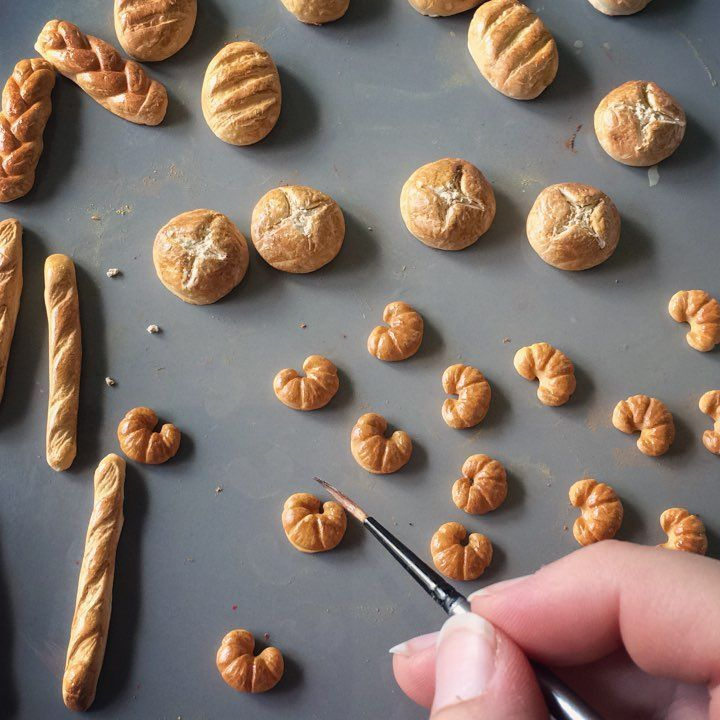 Mini Bread | Dollhouse Miniature - Mini Food .  #Dollhouse #miniatures #minifood