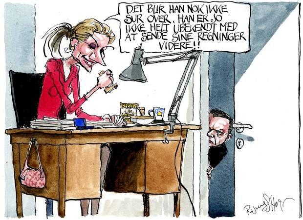 Regeringen vil lave en populær terrorpakke men vil skubbe hovedparten af den dyre regning til efter valget, som en ny regering risikerer at stå med. Tegning: Rasmus Sand Høyer