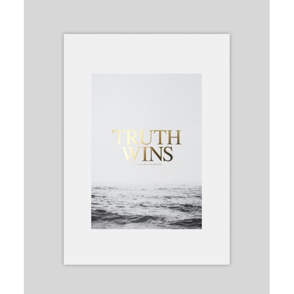 Truth Wins Gold Foil Typography Art Print | hardtofind.
