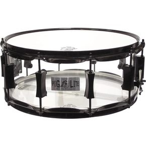 Acrylic snare drum by Pork Pie. I use this one on my set and it's amazing!  You can really crank the top head and get an amazing sound out of it.  Sound guys I've worked with say this thing cracks like a gun shot and really makes a statement in the mix.