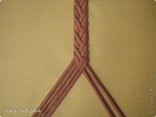 Поделка изделие Плетение Трио Бумага газетная Трубочки бумажные фото 16