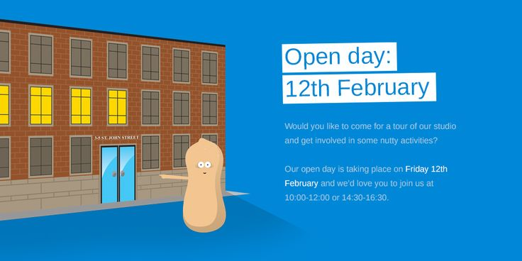 Nutteresons Creative Agency Open Day on the 12th of February! We give you an opportunity to visit our creative office and to get involved in some nutty activities. Our address is 3-5 St. John Street, Manchester, M3 4DN. Look for the Blue doors and see you on Friday!