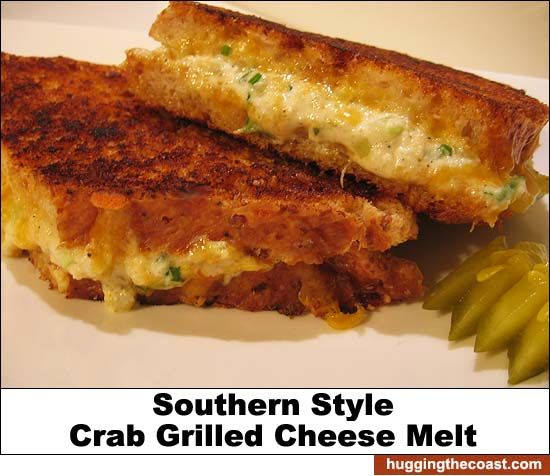 Gourmet Grilled Cheese: Southern Style Crab Grilled Cheese Melt Sandwich Recipe by Doug DuCap