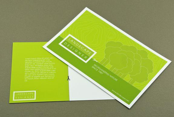 Simple postcard design