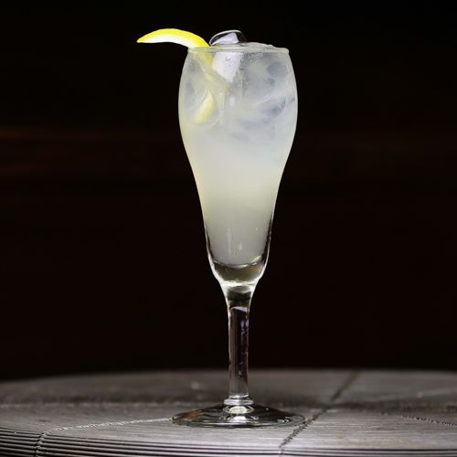 Rumskey Cocktail: White whiskey and rum join forces in this simple sour cocktail made with ginger liqueur and lemon juice.
