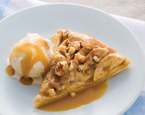 Banoffee Dessert Pizza recipe from Food in a Minute