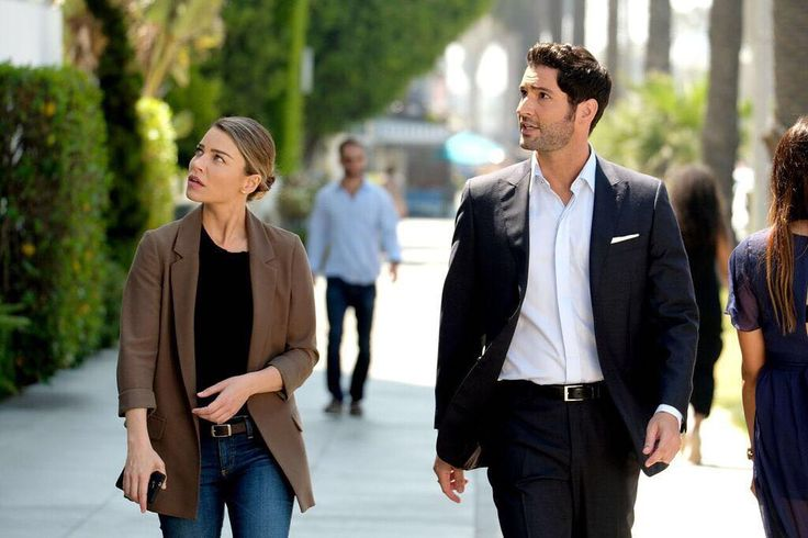"Lucifer (@luciferonfox) on Instagram: ""These two can't be stopped. #Lucifer returns in TWO DAYS at 8/7c on @foxtv."" -- Tom Ellis plays Lucifer Morningstar and Lauren German plays Chloe Decker on LUCIFER  
