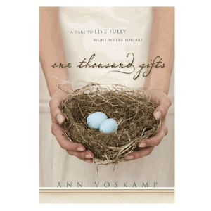 This novel was a gift in itself ;)  Ann Voskamp dares you to live your life to the fullest and share your gifts...wherever you are.