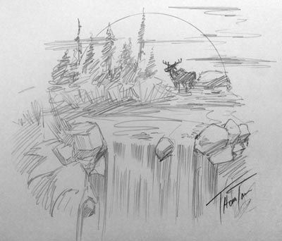 waterfall drawing - Google Search