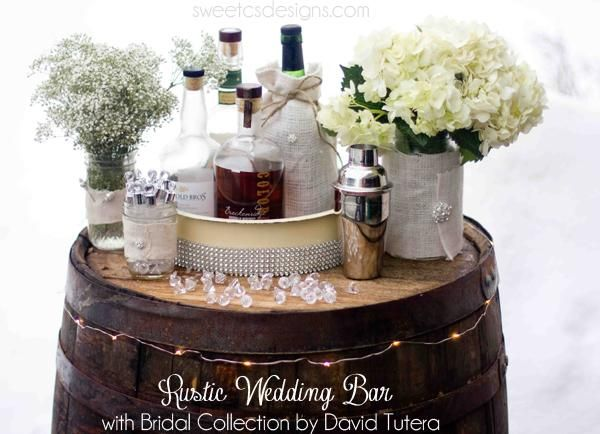 25 best rustic bling images on pinterest wedding decor weddings rustic wedding bar with david tutera collection junglespirit Images