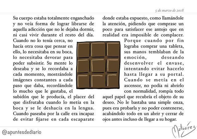 Objeto de deseo : #Diario 1160 #texto #escrito #microcuento #cuento #chocolate
