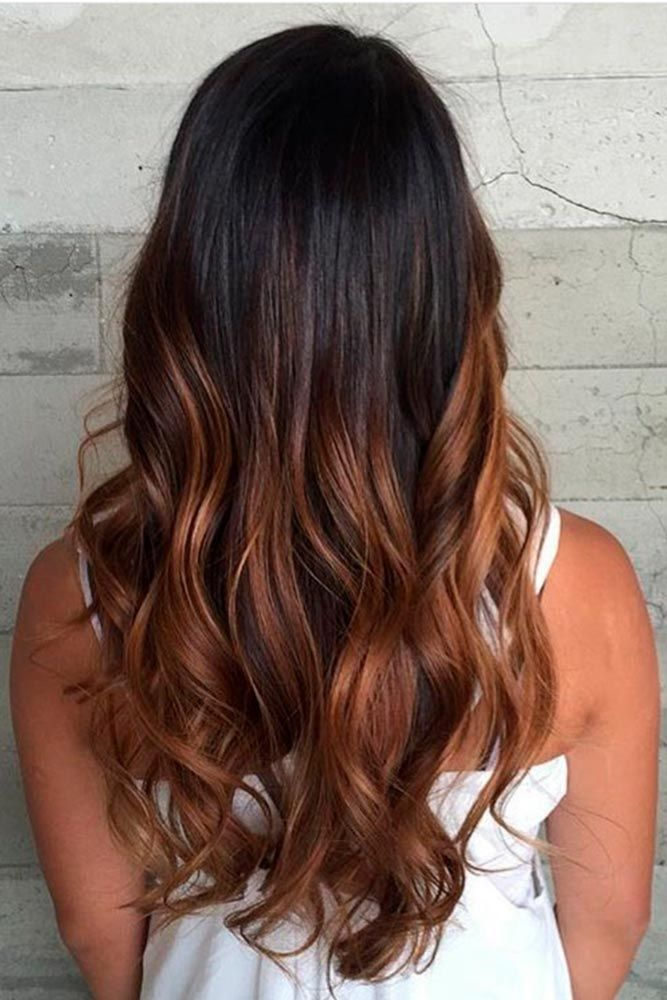 Best 25 brown ombre hair ideas on pinterest ombre brown balayage straight hair and brunette - Tie and dye caramel ...