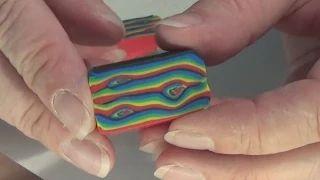 """Rainbow """"wood"""" cane - YouTube"""