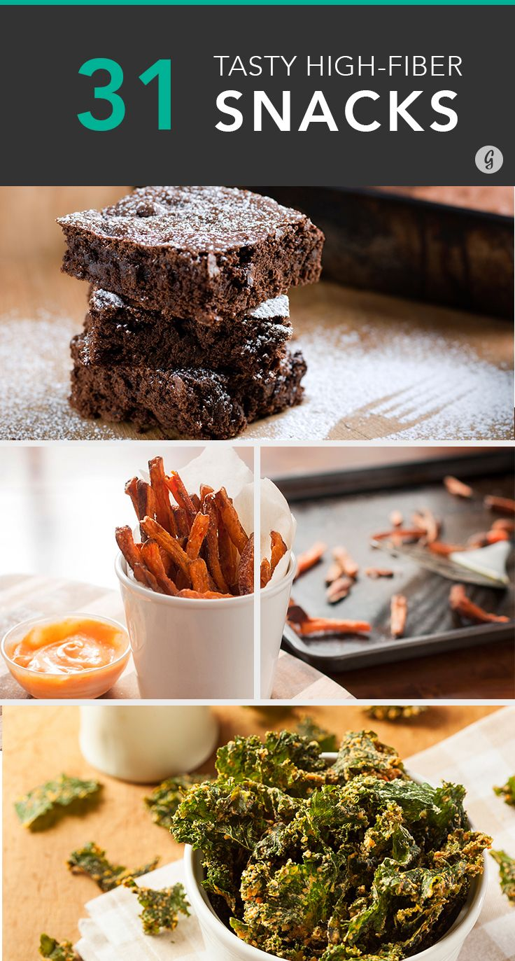 31 Surprising High-Fiber Snacks #healthy #highfiber #snacks