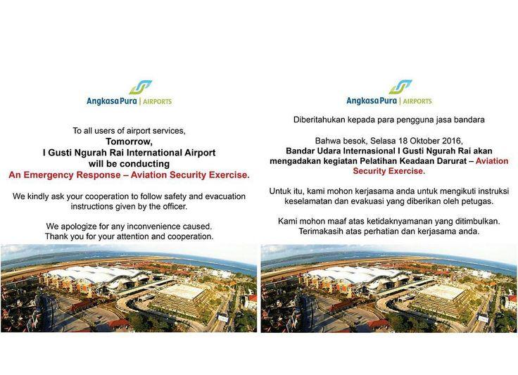 Kepada para pengguna Bandara Ngurah Rai hari ini.  #Airport #Bali #DPS