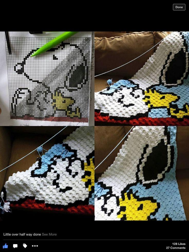 Snoopy c2c blanket