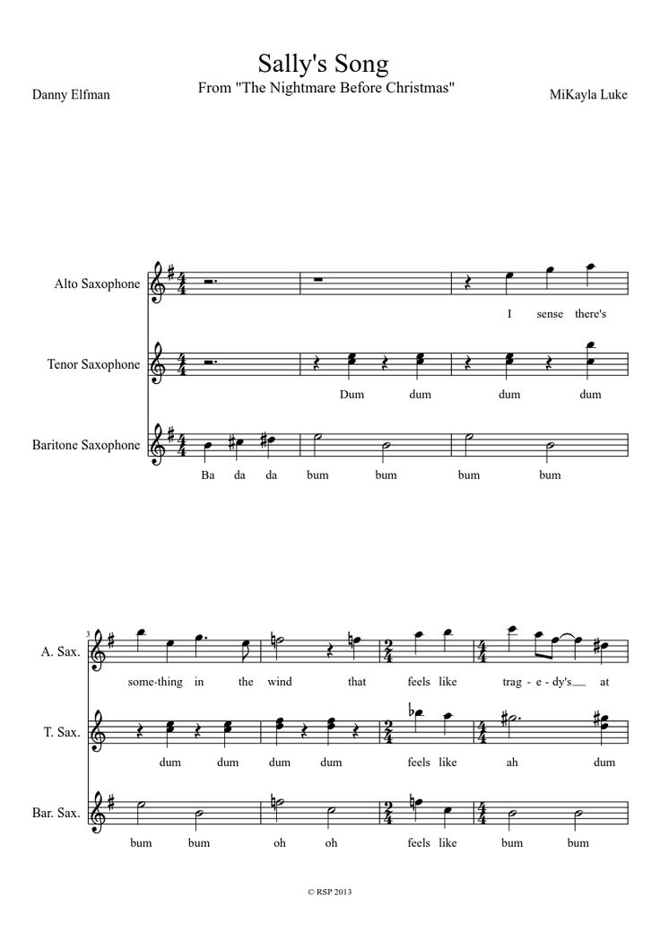 Sheet music made by totoro14 for 3 parts: Alto Saxophone ... | 736 x 1040 jpeg 54kB