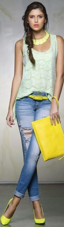 Yellow Purse and Summer Fashion For Young Girls