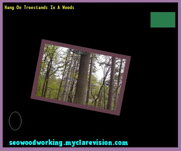 Hang On Treestands In A Woods 172321 - Woodworking Plans and Projects!
