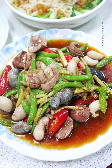 chicken testicles and pork kidney stir fry | Taiwanese cuisine