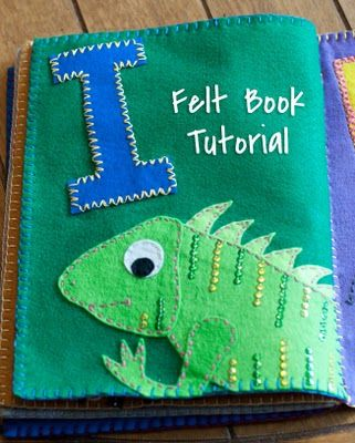 FELT BOOK TUTORIAL (there is even a link for the animal patterns)