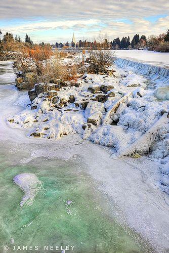 Ice Fall ~ The falls in Idaho Falls, Idaha