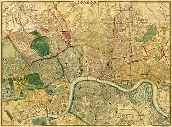 Map Of London 1868, By Edward Weller. Click through to the site and it is then possible to zoom in on different grid areas. The level of detail is extraordinary.