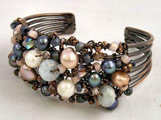 Sweet Freedom Designs: Freeform Wire Wrapped Bracelet