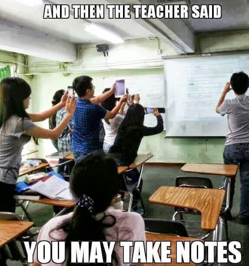 Apple Humor | And then the teacher said you may take some notes! From Funny Technology - Google+