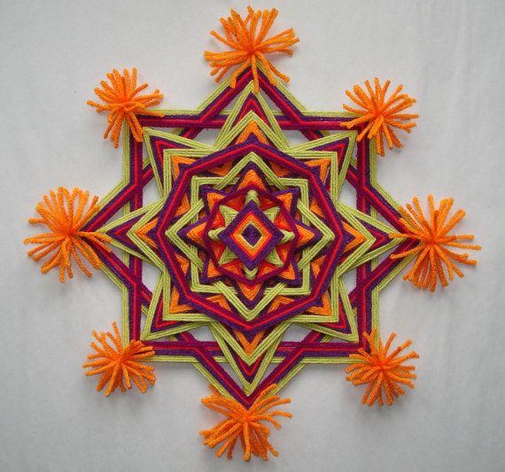 Hippie Festival  Ojo de Dios  Yarn Mandala by HighDesertBohemian, $32.00