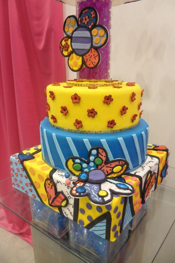 Romero Britto cake design for Quinceanera Expo