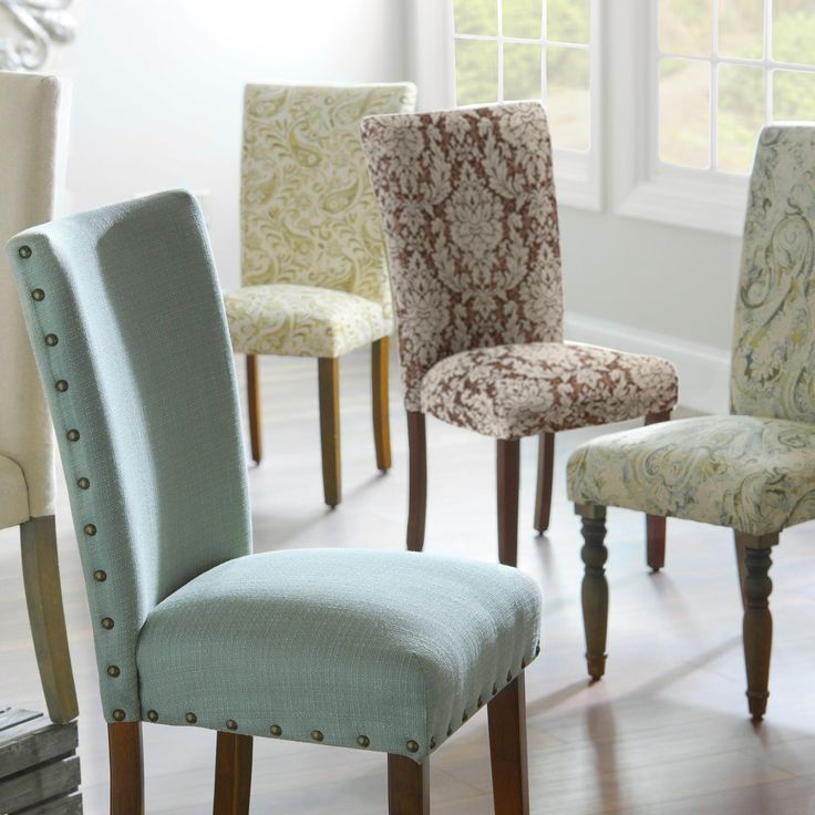 25 best ideas about dining room chairs on pinterest for Fabric dining room chairs